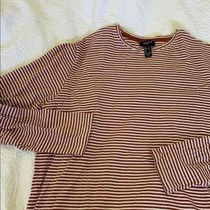 Men's Forever 21 Striped Long Sleeve Size L